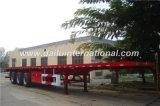 Трейлер красного прямого луча 3 Axles Fuwa планшетный Semi с отверстиями колонки