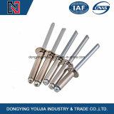 Rivets d'abat-jour d'extrémité ouverte d'acier inoxydable de DIN7337 A2 A4 avec le mandrin de traction d'interruption et la tête saillante