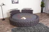 販売6823のSize Round Bed木の優雅な王