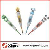 Karikatur-Hauptdigital-Thermometer mit flexibler Spitze