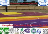 Diseño especial que enclavija el suelo al aire libre suspendido del baloncesto