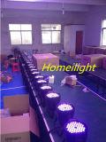RGB 3 en 1 3wx54 impermeable PAR lámpara de luz con DMX512 Etapa de aluminio del punto de luz LED Efecto disco de la música