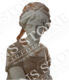순수한 백색 대리석 Ms 070에 있는 아름다운 감미로운 선잠 처녀 조각품