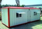 화장실 비품 (콘테이너 오두막)를 가진 이동할 수 있는 조립식 콘테이너 집