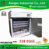 L'incubateur complètement automatique d'oeufs qui peut retenir 528 oeufs de poulet hachant le CE 2014 de machine a reconnu (KP-8)