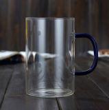 [برإكس غلسّ] [تا كب] [ستينلسّ ستيل] نقيع مكتب فنجان مع يلوّن تزجيج مقبض