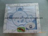 刺繍が付いている100%年の綿のテリーの赤ん坊のフード付きタオル