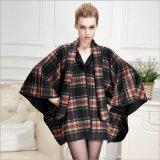 Cappotto di pelliccia a doppia faccia del capo del cachemire per i vestiti della donna