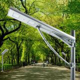 Sensor de la carrocería del uso del jardín de la mejora inteligente todos en una luz de calle solar integrada del LED