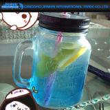 taza de cristal grabada martillo del masón del jugo del té de hielo 350ml