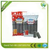 Almofadas de limpeza do aço inoxidável, polidor de aço da esponja, almofada de limpeza de palhas de aço