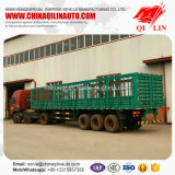 Fuwa 13tの車軸が付いている良質の貨物塀の半トレーラー