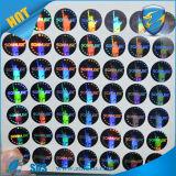 Etiqueta engomada protegida holograma adhesivo de encargo de la película de la etiqueta engomada/laser del animal doméstico