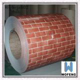 코일에 있는 인쇄 벽돌 패턴 Prepainted 강철 PPGI 장