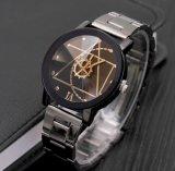 コンパス回転式ギヤポインターの腕時計鋼鉄ベルトの恋人のカップルの腕時計