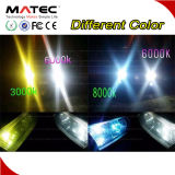 Colores únicos amarillos/linterna azul H4 H3 H7 9005 9006 del kit 12V 24V LED del blanco LED