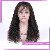 Peluca llena 100% del cordón de Remy del pelo humano de la peluca del pelo brasileño sin procesar de la Virgen con el pelo del bebé
