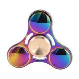 Juguetes coloridos de la descompresión del hilandero de la persona agitada del arco iris del UFO con el rectángulo al por menor
