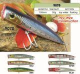 155mm flottant d'une première le prix bon marché usine --- La qualité a fait Crankbait de pêche en plastique dur fait sur commande - Wobbler - attrait de pêche de Popper de cyprins