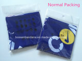 OEMの農産物はロゴによって印刷された昇進のスポーツの青いバンダナヘッドスカーフのもみ革をカスタマイズした