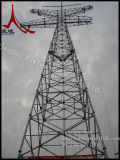 Ligne de transmission de puissance haute tension Lattice Steel and Tubular Tower