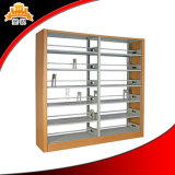 Double Side Library School Metal Book Rack