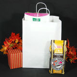 Sac de transporteur promotionnel blanc de sac à provisions de sac de papier d'emballage et de sac de sacs en papier de Papier d'emballage Brown