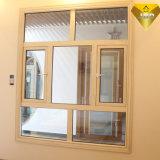 Finestra di vetro della più grande di fabbricazione di Foshan stoffa per tendine di alluminio termica della rottura con 304ss rete (55 serie)