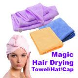 Casquillo de secado rápido mágico del sostenedor del Ponytail de la toalla del pelo de Microfiber de las señoras