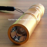 방수 UV 365nm Flashlights 3W LED Gold Color