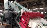 Línea plástica de la granulación con el detector de metales