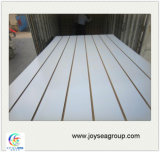 Plain and Melamine Slotted MDF Board Building Material