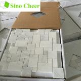 Mini telha de mármore branca do mosaico do teste padrão de Versalhes
