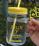 Fles de van uitstekende kwaliteit van het Glas van de Metselaar van 16 Oz, het Drinken Fles