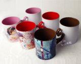 Rim y taza de cerámica de sublimación de color interior