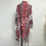 Forma nova camisola feita malha Tippet com o Tassel para as senhoras (SOI1742)