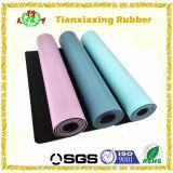Non циновка йоги циновки спорта природного каучука PU абсорбциы Sweat выскальзования кожаный