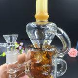 Colore ambrato Recylcer di vetro per il tubo di fumo