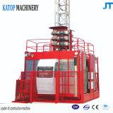 Carga doble del alzamiento 2t de la construcción de la jaula de China Sc200/200 para la elevación del material de construcción