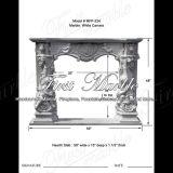 Cheminée blanche Mfp-234 de Carrare de cheminée en pierre de marbre de granit