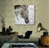 ホーム装飾のための油絵のシマウマ
