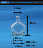 Transparentes Glas für Wein und klassisches Xo Glas-Glas