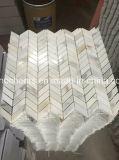 Импортированная плитка мрамора золота Calacatta плитки настила