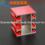 Profils en aluminium enduits personnalisés d'extrusion de poudre de couleur