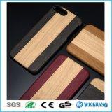 Cas en bois de dos de cuir de configuration pour l'iPhone 8 d'Apple