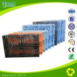 Alta calidad HDPE sólido material plástico de paletas Cajas de manga