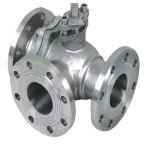 Valvola a sfera di Multiport dell'acciaio di getto dell'acciaio inossidabile di ASME