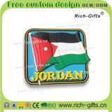 昇進のギフトの記念品3D PVC冷却装置磁石ヨルダン(RC-JN)