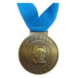 Античной покрынное бронзой медаль сувенира образования сплава металла