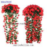Imitação barata de plástico Atacado seda casamento falso Falso Flor Artificial